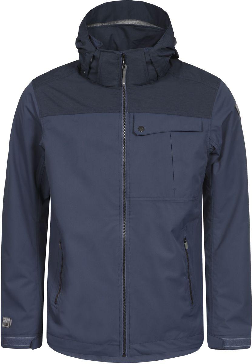 Куртка мужская Icepeak, цвет: синий. 756011553IVT_345. Размер S (48)756011553IVT_345Мужская куртка с подкладкой Icepeak выполнена из качественного материала. Модель с длинными рукавами застегивается на застежку-молнию. Изделие дополнено капюшоном и карманами.