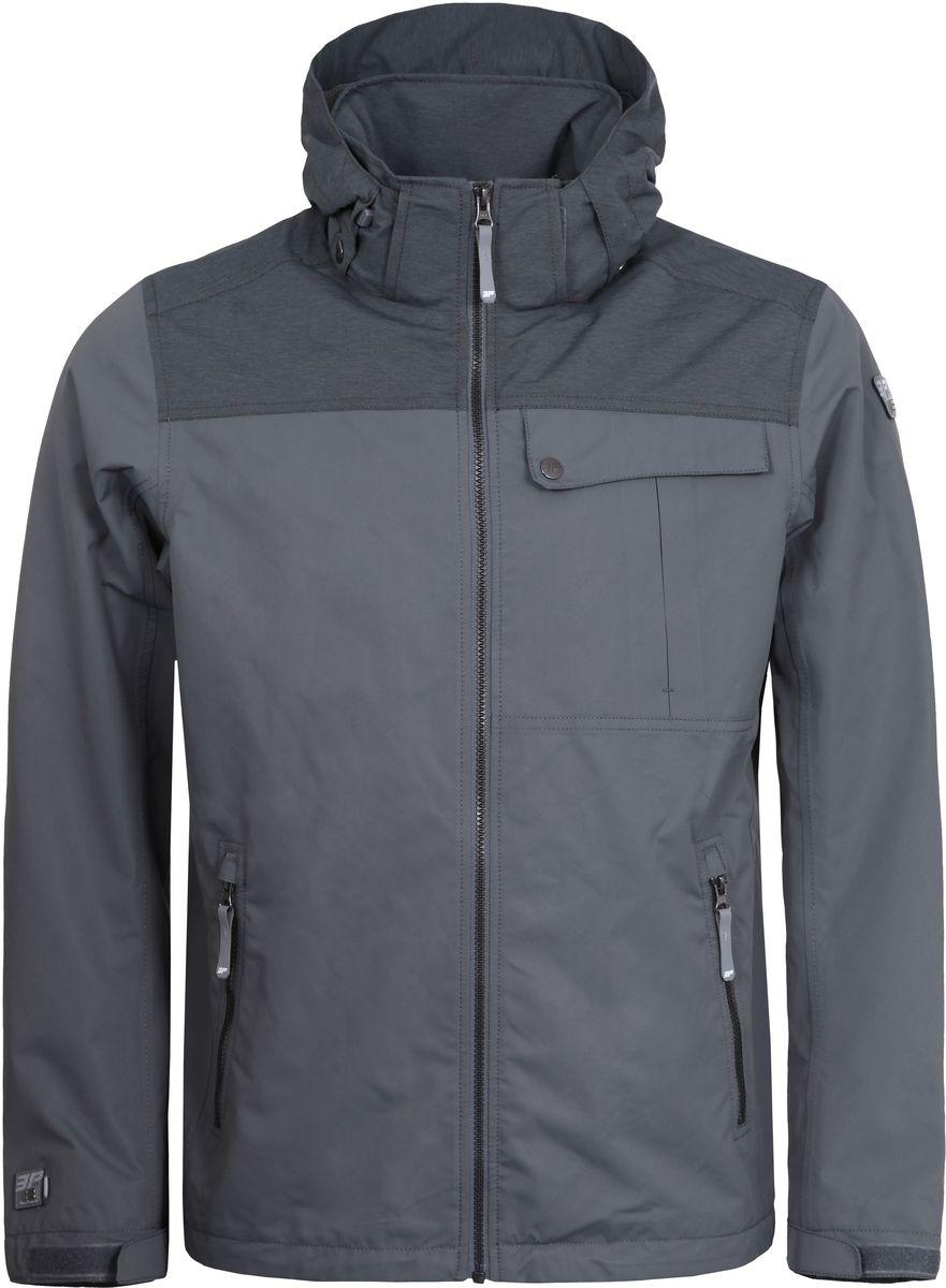 Куртка мужская Icepeak, цвет: серый. 756011553IVT_575. Размер S (48)756011553IVT_575Мужская куртка с подкладкой Icepeak выполнена из качественного материала. Модель с длинными рукавами застегивается на застежку-молнию. Изделие дополнено капюшоном и карманами.