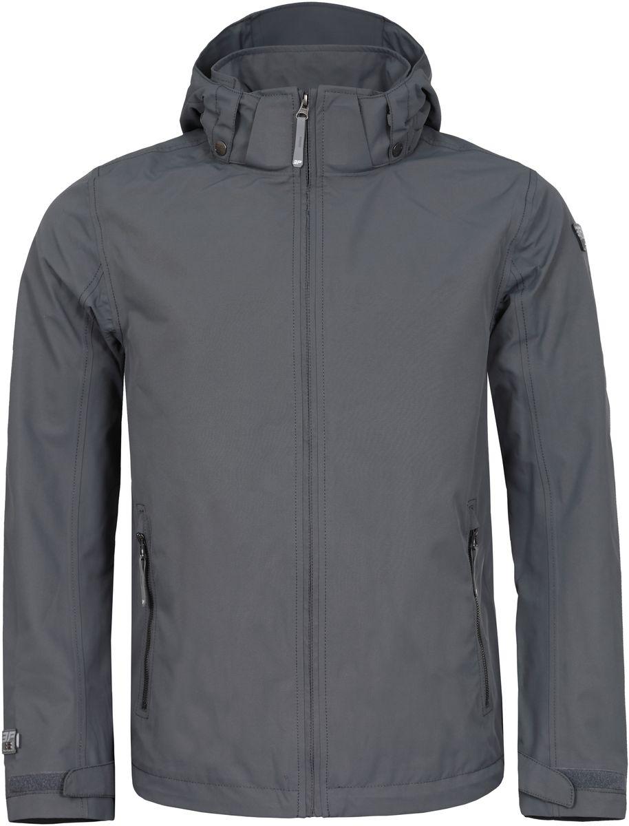 Куртка мужская Icepeak, цвет: серый. 756003532IV_575. Размер 48756003532IV_575Куртка мужская Icepeak изготовлена из износоустойчивой влагоотталкивающей ткани. Подкладка - воздухопропускающий полиамид. Изделие имеет высокую стойку воротника, капюшон с уплотненным козырьком, липучки на манжетах рукавов, регулируемые затяжные шнурки-резинки по низу изделия и на капюшоне. Швы обработаны от проникновения влаги и продувания ветром. Куртка застегивается спереди и на карманах на застежку-молнию, капюшон пристегивается на кнопки и так же застегивается на молнию.