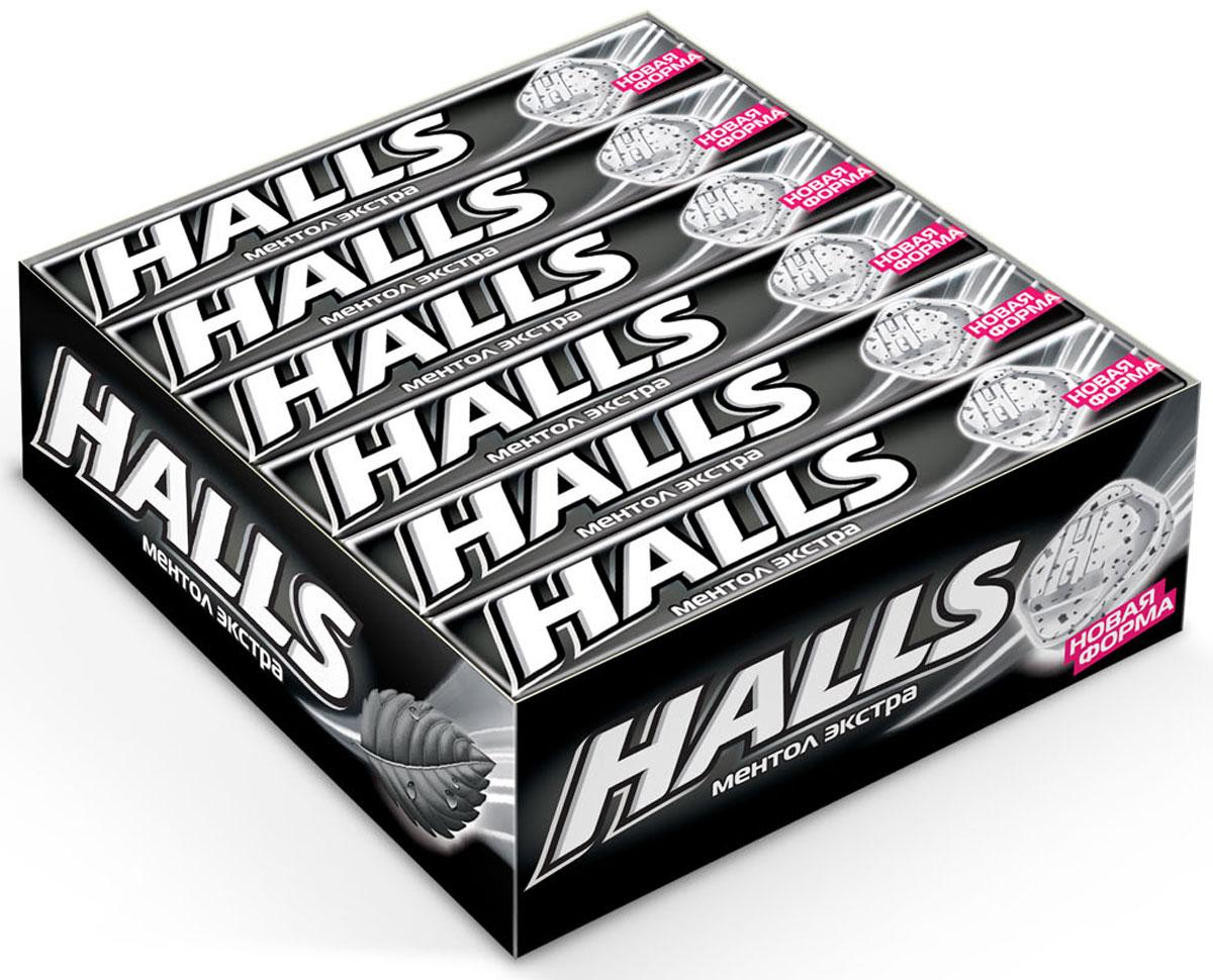 Halls Ментол экстра леденцы, 12 пачек по 24,5 г sula эвкалипт ментол леденцы 18 г