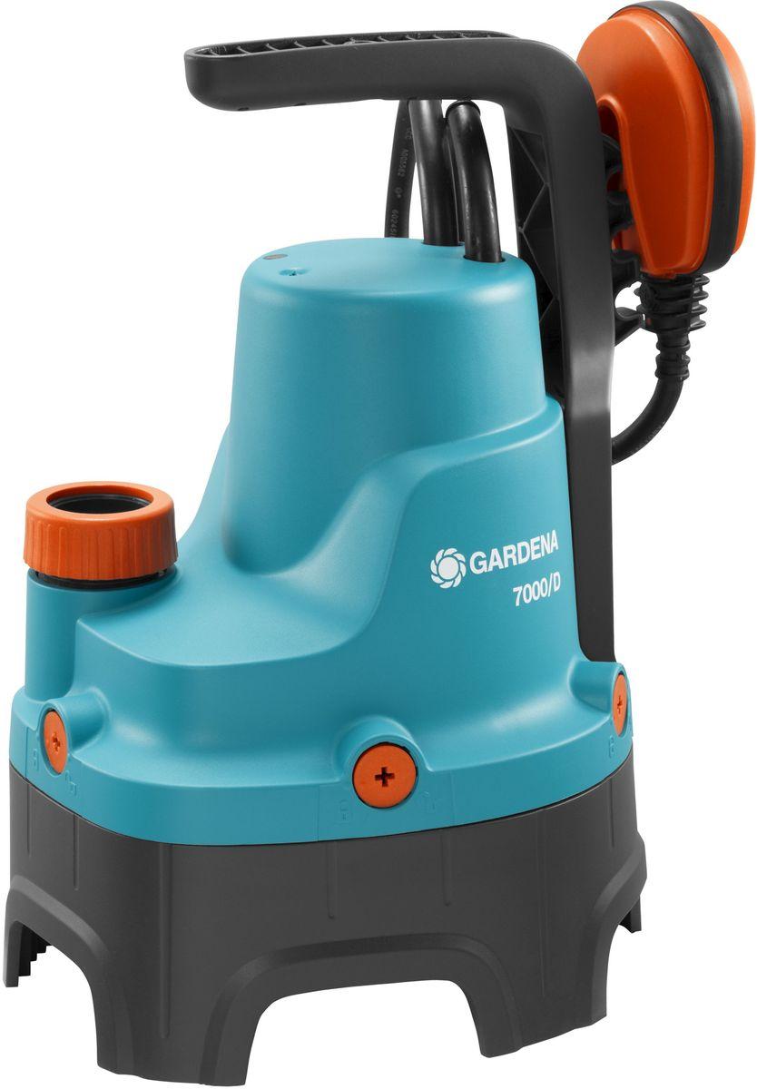 Насос для грязной воды Gardena, дренажный, 7000/D01665-20.000.00Иногда вода может появиться там, где ее не должно быть, например, в подвале или возлестиральной машины, либо Вам необходимо просто откачать или перекачать воду.Дренажный насос для грязной воды Gardena идеально подходит для быстрой перекачки чистойили загрязненной воды с диаметром частиц не более 25 мм. Благодаря наличию силового кабелядлиной 10 м, практичный и надежный насос может использоваться для выполнения различныхзадач даже на очень большой глубине. Поплавковый выключатель обеспечивает автоматическоевключение и выключение насоса. Уровни включения и выключения с помощью поплавковоговыключателя регулируются путем изменения положения кабеля в фиксаторе. Переключательвозможно зафиксировать в ручном режиме. Надежный корпус насоса, выполненный изукрепленного стекловолокном пластика, износостойкое рабочее колесо насоса и малошумный.Если в процессе работы рабочее колесо заблокировалось, то Вы можете снять нижнюю часть иочистить насос от грязи. Электромотор не требует технического обслуживания, атермовыключатель не позволит насосу перегреться, гарантируя длительный срок эксплуатации.