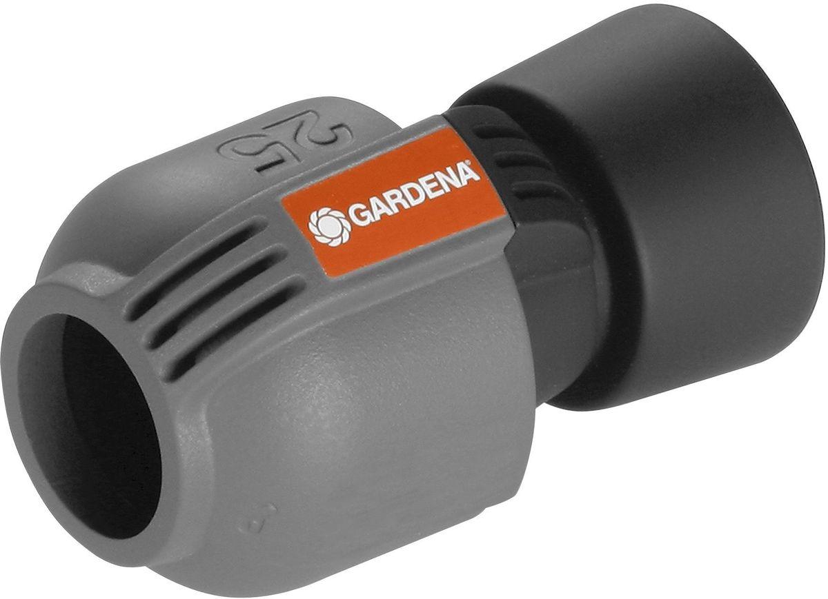 Соединитель Gardena, внутренняя резьба 25 мм x 101661-20.000.00СоединительGardena - составная часть дождевательной системы Gardena, которая служит дляподсоединения подающей линии к коробкам клапанов для полива V1 и V3, а также к колонке соспиральным шлангом. С помощью этого соединителя система полива также может бытьнапрямую подключена к домашнему водопроводу. Благодаря запатентованной технологиибыстрого соединения Quick & Easy (Быстро и просто) монтаж и демонтаж трубопроводаосуществляется без инструментов путем простого поворота завинчивающегося фитинга на 140°.Для безопасной работы и достижения водонепроницаемости резьбовое соединение соединителяявляется самогерметизирующимся.