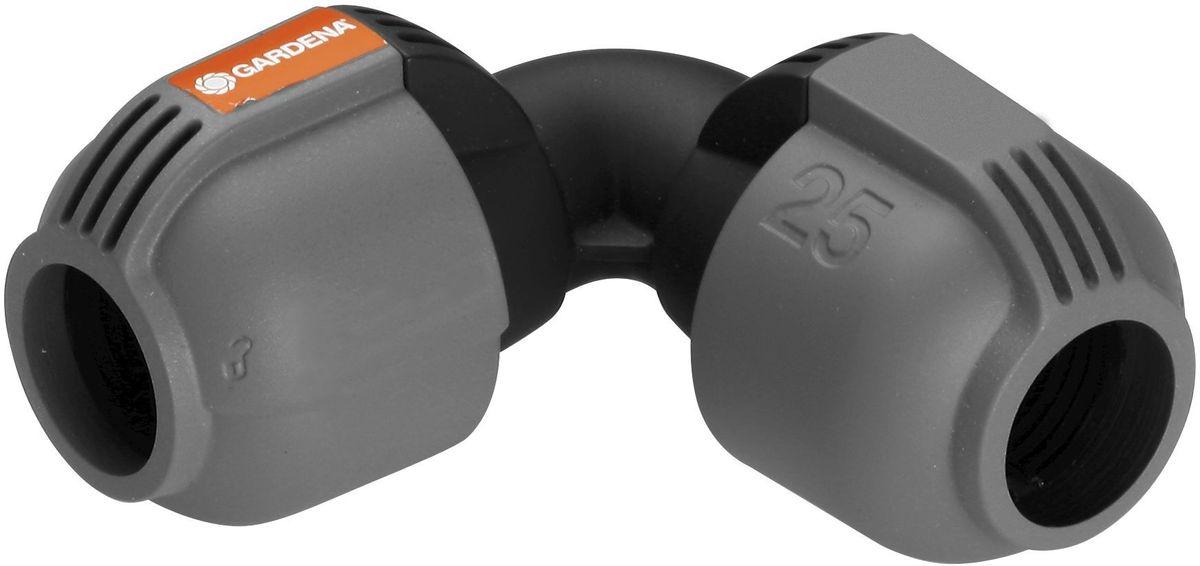 Соединитель Gardena, L-образный, резьба 25 мм02773-20.000.00Соединитель L-образный Gardena предназначен для соединения шлангов. С помощью него удобно изменять направления шланга без пережимания и скручивания. Легко подсоединяется без использования инструментов путем поворота фитинга на 1400. Технология Quick & Easy обеспечивает быстрое и надежное соединение. Приспособление изготовлено из качественного материала, имеет длительный период эксплуатации.Диаметр: 25 мм.