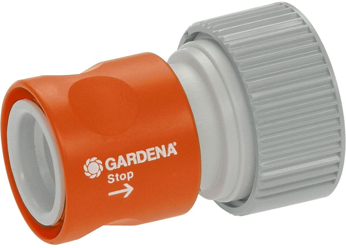 Коннектор Gardena Профи, с автостопом02814-20.000.00Коннектор Gardena Профи используется в системах поливов с насосами. Предназначен для надежного соединения двух шлангов, при этом имеет систему, которая автоматически перекрывает воду, если элемент разъединен. При соединении частей обратно подача воды возобновляется. Подходит для шлангов с диаметрами 19 мм (3/4) и 16 мм (5/8).