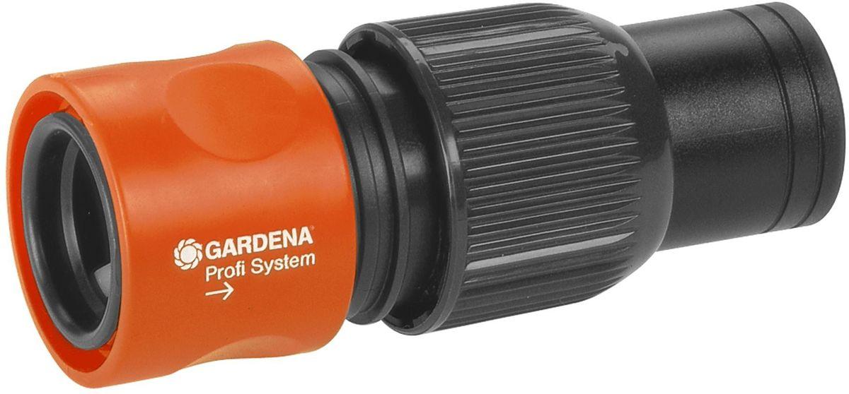 Коннектор Gardena Профи, резьба 3/402817-20.000.00Коннектор Gardena Профи применяется на дачах, в огородах, а также везде, где необходимо увеличить длину шланга. Легко и надежно соединяет между собой два шланга с диаметрами 3/4. Также используется с насосами.
