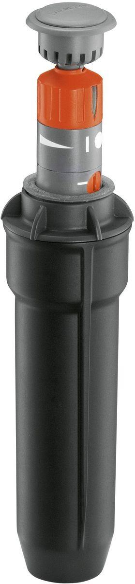 Турбодождеватель Gardena T 100, выдвижной, внутренняя резьба 1/208201-29.000.00Выдвижной турбодождеватель Gardena T 100, входящий в систему дождевания Gardena Sprinklersystem, идеально подходит для орошения газона до 100 м2. Он может сочетаться с выдвижными турбодождевателями T 200 и 380 и выдвижным осциллирующим дождевателем R 140. Дальность полива можно устанавливать в диапазоне от 4 до 6 м в соответствии с индивидуальной планировкой газона. Сектор полива плавно регулируется с помощью головки дождевателя в диапазоне от 70 до 360°. Поворотный регулятор позволяет точно задать сектор. Встроенный фильтр обеспечивает бесперебойное функционирование. Благодаря установке в трубопроводе дренажного клапана система дождевания становится морозоустойчивой. Соединение осуществляется при помощи внутренней резьбы 1/2.