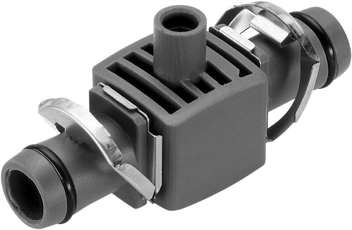 Соединитель Gardena, T-образный, для микронасадок, диаметр 13 мм, 5 шт08331-29.000.00Соединитель Т-образный Gardena является элементом системы микрокапельного полива Gardena Micro-Drip-System и предназначен для крепления микронасадок на магистральном шланге диаметром 13 мм (1/2 дюйма). Для установки соединителя требуется направляющая или крепления. Соединитель оптимально подходит для удлинения микронасадок при использовании надставки. Благодаря патентованной технологии быстрого подсоединения Quick & Easy, крепление соединителя к магистральному шлангу диаметром 13 мм (1/2 дюйма) выполняется чрезвычайно просто.В комплект поставки входят пять Т-образных соединителей и одна заглушка.