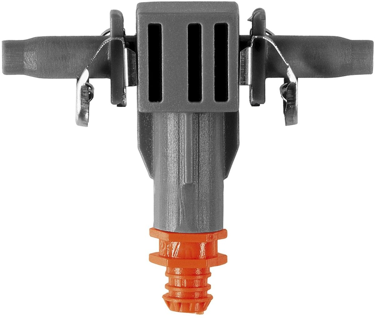 Капельница Gardena, внутренняя, с иглой и заглушкой, производительность 2 л/ч, 10 шт08343-29.000.00Внутренняя капельница Gardena является элементом системы микрокапельного полива Gardena Micro-Drip-System и предназначена для направленного полива посаженных в ряд растений с одинаковой потребностью в воде, например, на балконе. Производительность капельницы около 2 л/ч. Благодаря патентованной технологии быстрого подсоединения Quick & Easy, крепление капельницы к подающему шлангу диаметром 4,6 мм (3/16 дюйма) выполняется особенно просто. В комплект поставки входят десять капельниц, одна игла для прочистки и одна заглушка. Игла предназначена для удобной прочистки загрязненных капельниц.