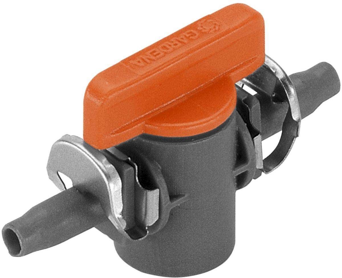 Кран запорный Gardena, резьба 4,6 мм (3/16), 2 шт08357-29.000.00Кран запорный Gardena является элементом системы микрокапельного полива Gardena Micro-Drip-System и предназначен для перекрытия потока в отдельной линии подающего шланга. Кран запорный позволяет плавно регулировать режим полива кругового микродождевателя. Благодаря патентованной технологии быстрого подсоединения Quick & Easy, установка крана чрезвычайно проста. В комплект поставки входят два крана.