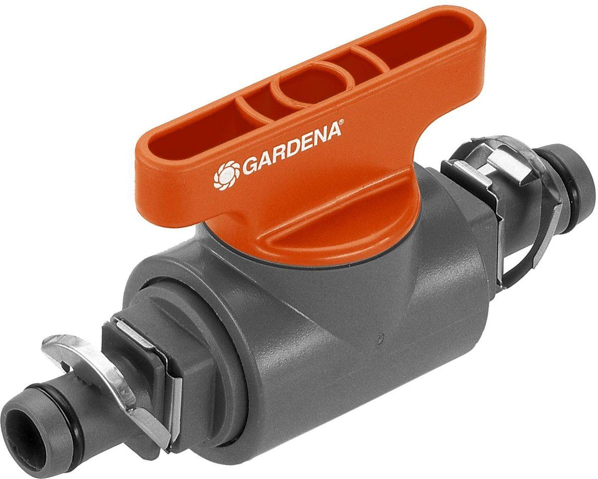 Кран запорный Gardena, резьба 13 мм (1/2)13001-20.000.00Кран запорный Gardena является элементом системы микрокапельного полива Gardena Micro-Drip-System и предназначен для перекрытия потока в отдельной линии магистрального шланга. Благодаря патентованной технологии быстрого подсоединения Quick & Easy, установка крана чрезвычайно проста.