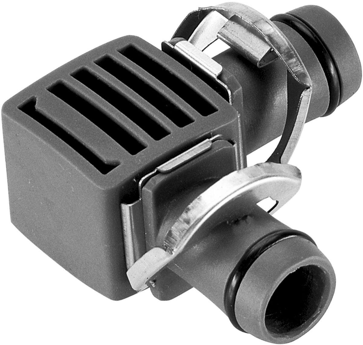 Соединитель Gardena, L-образный, резьба 13 мм (1/2), 2 шт08382-29.000.00Соединитель L-образный Gardena является элементом системы микрокапельного полива Gardena Micro-Drip-System и предназначен для изменения направления магистрального шланга. Благодаря патентованной технологии быстрого подсоединения Quick & Easy, установка соединителя чрезвычайно проста. В комплект поставки входят два L-образных соединителя.