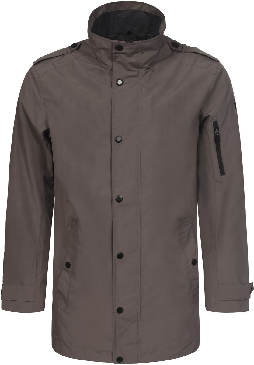 Куртка мужская Luhta, цвет: светло-коричневый. 737561383LVT. Размер 48737561383LVTМужская куртка Luhta выполнена из высококачественного материала. Модель с воротником-стойкой и длинными рукавами застегивается на молнию и дополнительно ветрозащитным клапаном на кнопки. Куртка оформлена двумя карманами на кнопках и одним карманом на молнии.