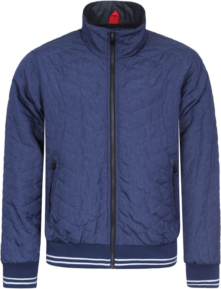 Куртка мужская Luhta, цвет: синий. 737551369LVT. Размер 48737551369LVTКуртка мужская Luhta выполнена из полиэстера. Модель с воротником стойкой и длинными рукавами застегивается на молнию.