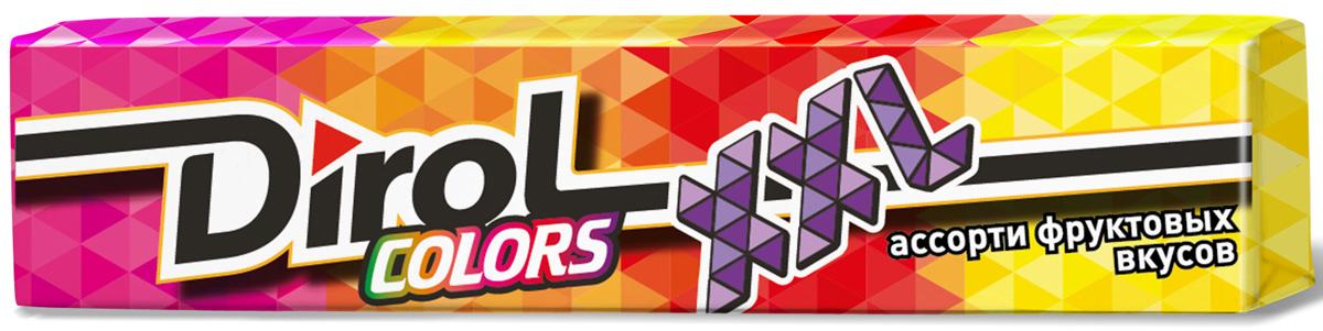 Dirol Colors XXL ассорти фруктовых вкусов жевательная резинка без сахара, 19 г loacker vanille вафли 225 г