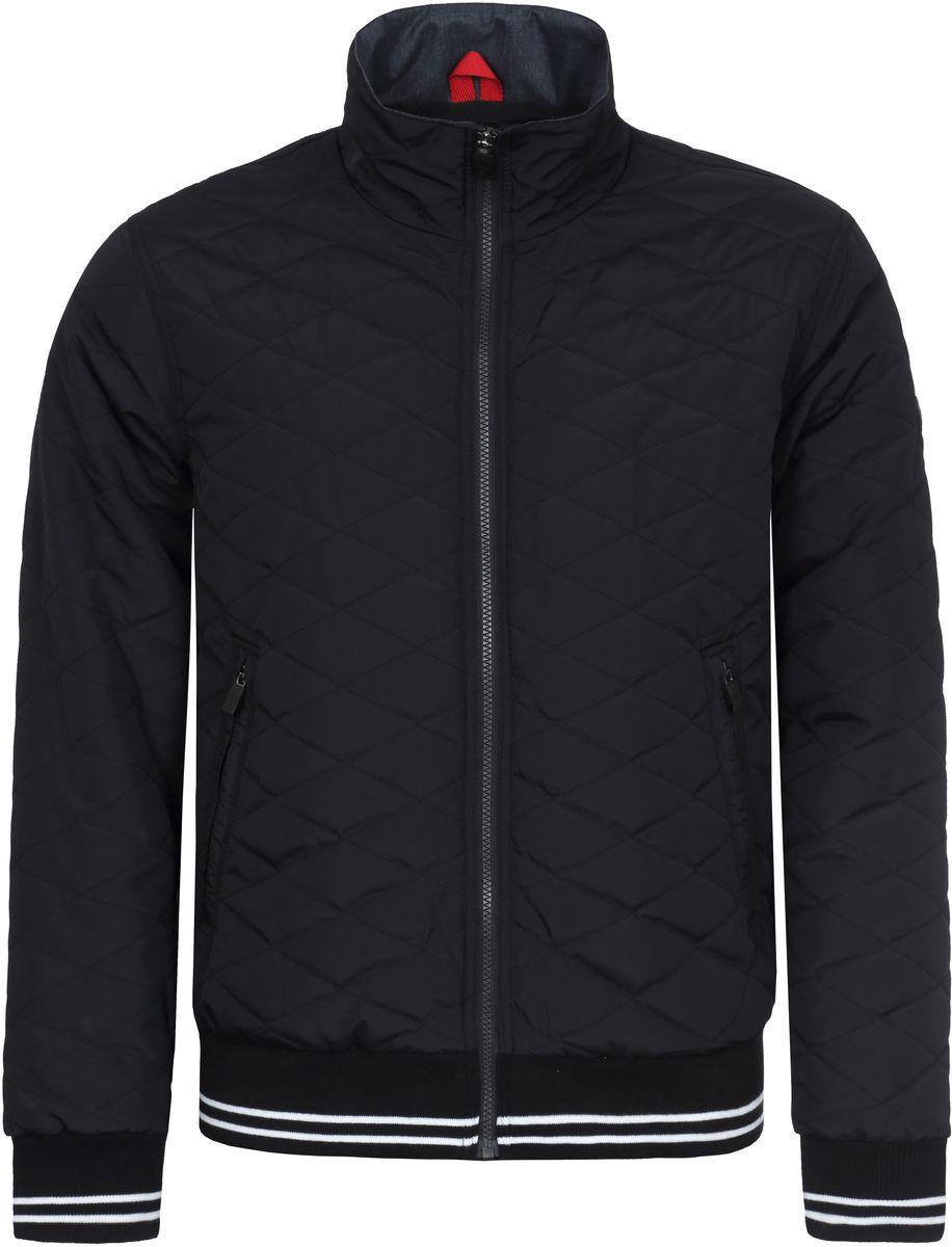 Куртка мужская Luhta, цвет: черный. 737551369LVT. Размер 54737551369LVTКуртка мужская Luhta выполнена из полиэстера. Модель с воротником стойкой и длинными рукавами застегивается на молнию.