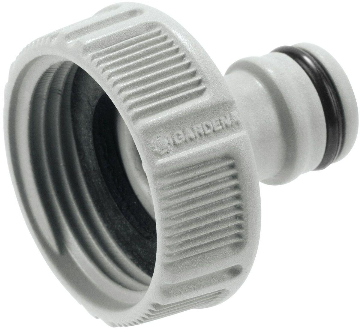 Штуцер Gardena, резьбовой, 118202-29.000.00Штуцер Gardena предназначен для соединения с резьбовыми кранами. Он легко устанавливается и нее требует использования инструментов. Подходит для кранов диаметром 26,5 мм (G 3/4) с резьбой 33,3 мм ( G 1).