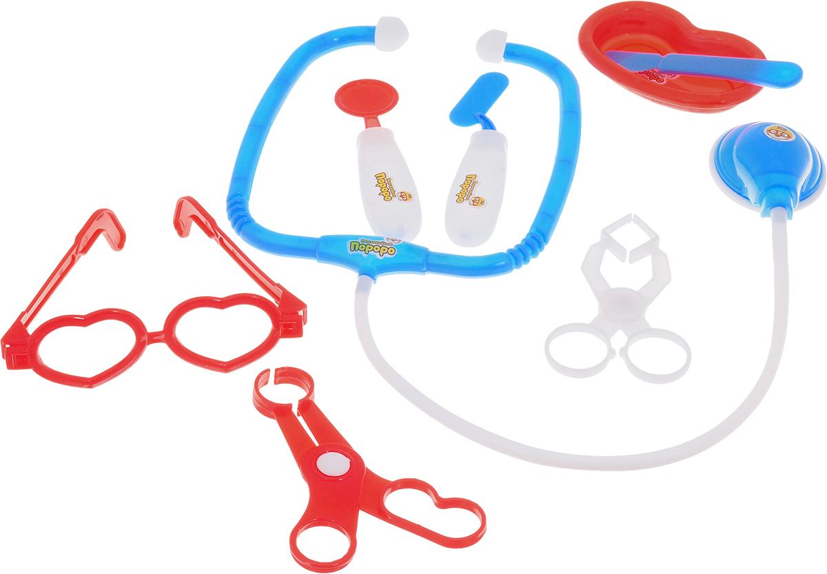 1TOY Игровой набор Пингвиненок Пороро Доктор цвет красный игровой набор в чемоданчике салон красоты для собак 16 предметов 1toy 1toy