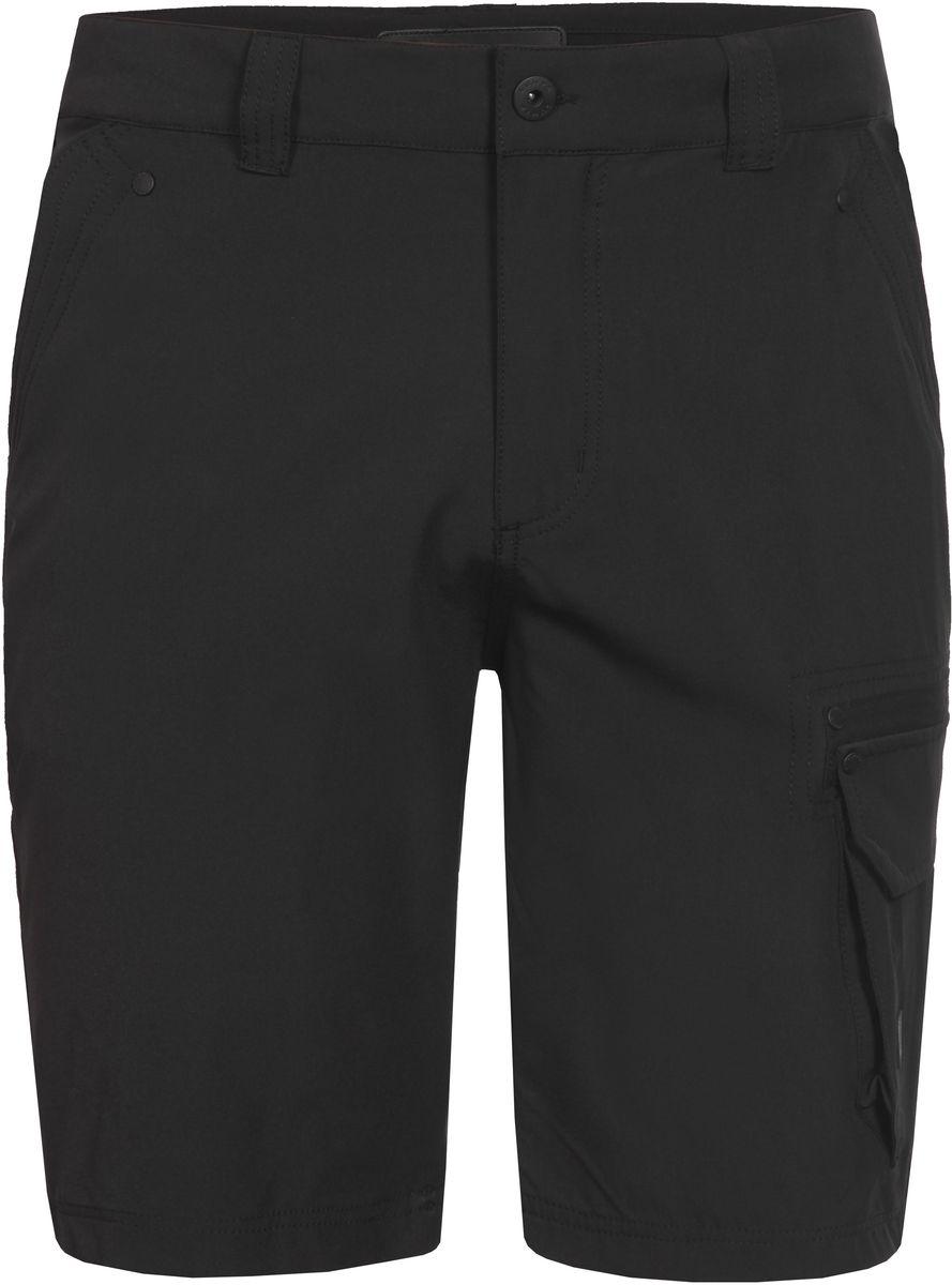 Шорты мужские Luhta, цвет: черный. 737845595LVT. Размер 48737845595LVTСтильные мужские шорты Luhta выполнены из высококачественного материала. Модель стандартной посадки застегивается на пуговицу в поясе и ширинку на застежке-молнии. Пояс имеет шлевки для ремня. Спереди шорты дополнены втачными карманами. Сбоку дополнены накладным карманом с клапаном.