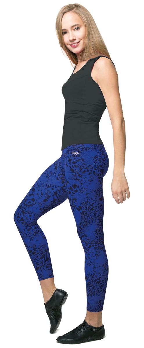 Лосины женские Grishko, цвет: синий, черный. AL-3016. Размер L (48)