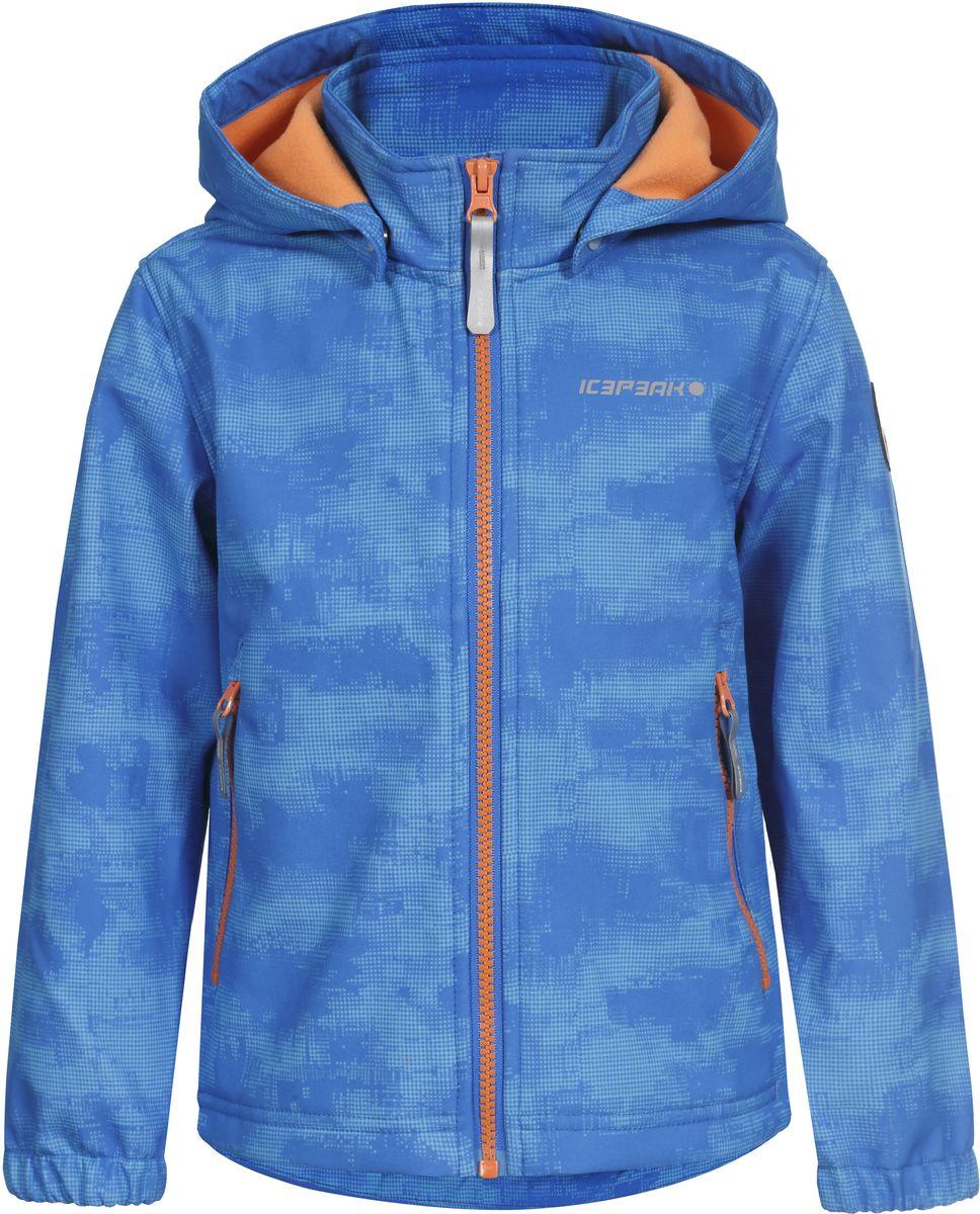 Куртка для мальчика Icepeak, цвет: синий. 751816656IVT_312. Размер 110751816656IVT_312Куртка для мальчика Icepeak выполнена из качественного полиэстера. Модель со съемным капюшоном и длинными рукавами застегивается на молнию. Изделие дополнено двумя врезными карманами на молниях.