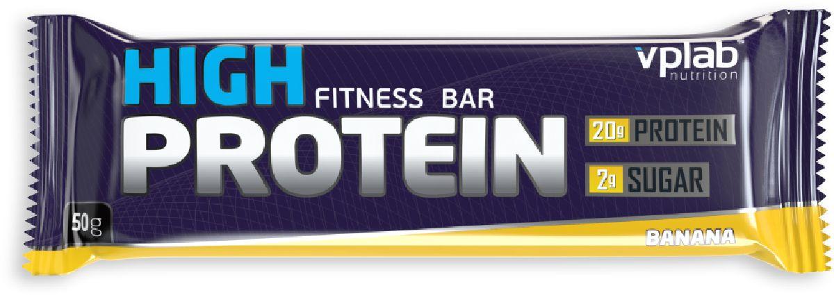 Батончик протеиновый VP Laboratory 40% Хай Протеин Бар, банан, 50 г высокопротеиновый батончик vplab 40% шоколад ваниль