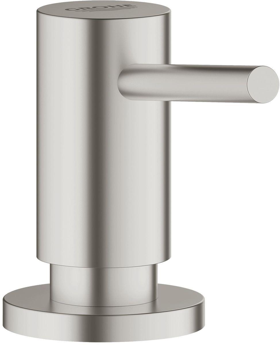 """Дозатор для жидкого мыла Grohe """"Cosmopolitan"""" идеален для современных ванных  комнат, его геометрические формы и чистые линии играют ключевую роль. В  серии Cosmopolitan вы сможете найти несколько смесителей для ванной и кухни,  но также вы сможете найти много аксессуаров, которые смогут внести последний  штрих в дизайн ванной."""