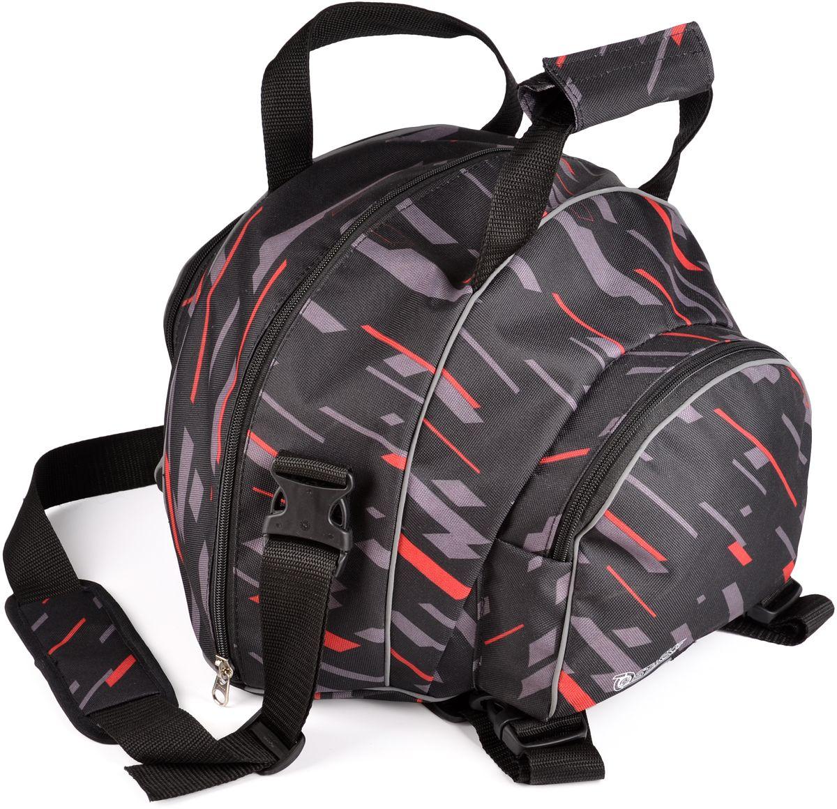 Сумка для переноски шлема Starks, цвет: серыйЛЦ0046Водонепроницаемая сумка Starks предназначена для переноски стандартного шлема, без козырька (если он не снимается). Имеет удобную, отстегивающуюся лямку через плечо. Дополнительные карманы по бокам для переноски перчаток, подшлемников и другого. Сумка имеет функцию установки на пассажирское сиденье в роли центрального кофра для перевозки шлема или различных вещей. Светоотражающие элементы добавляют безопасности в темное время.