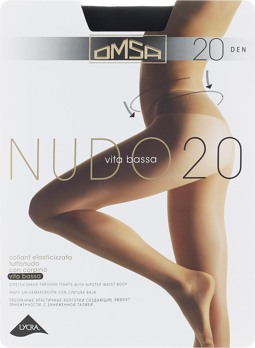 Колготки классические Omsa Nudo Vita Bassa 20. Nero (черные). Размер 3