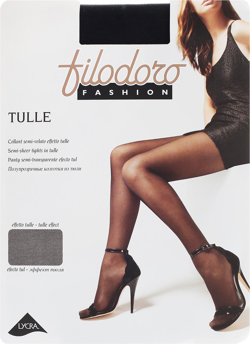 Колготки женские Filodoro Fashion Tulle, цвет: Nero (черный). G113262FG. Размер 4 (L)G113262FG