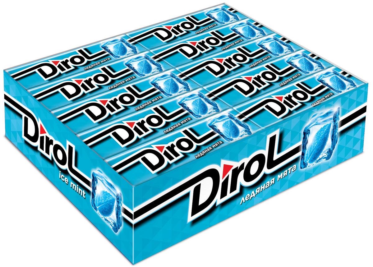 Dirol Жевательная резинка Ледяная мята без сахара, 30 пачек по 13,6 г жевательная резинка dirol сладкая мята без сахара