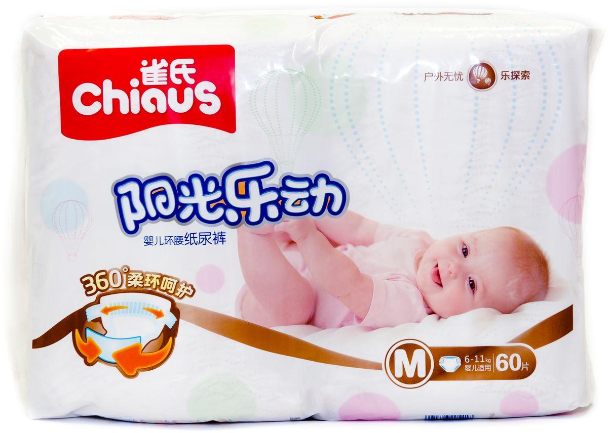 Chiaus Подгузники Premium M 6-11 кг 60 шт - Подгузники и пеленки
