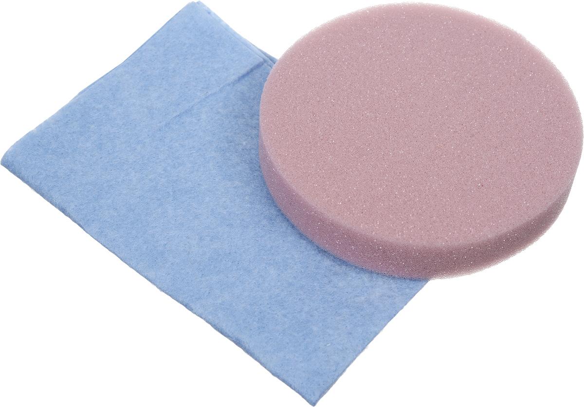 Набор салфеток для полировки автомобиля Runway, цвет: голубой, розовый, 2 шт55213Набор салфеток для полировки автомобиля Runway состоит из вискозной салфетки и губки. Набор прекрасно полирует автомобиль.Для нанесения полироли используйте вискозную салфетку. Небольшое количество полироли выдавите на салфетку и равномерно нанесите на лакокрасочное покрытие автомобиля. Окончательно располируйте нанесенную полироль губкой. Набор подходит для многократного применения. Размер салфетки: 30 х 30 см. Диаметр губки: 12 см.