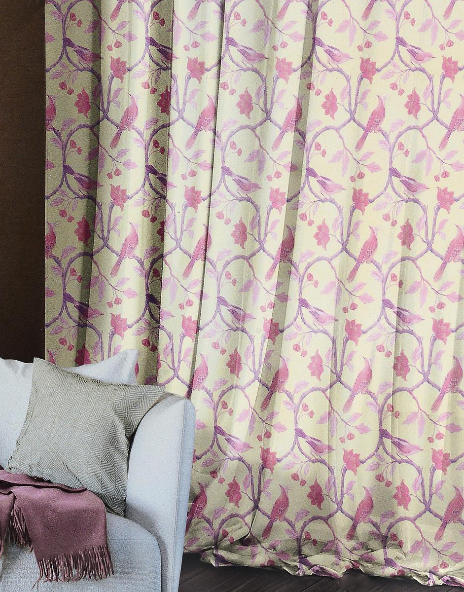 Комплект штор Волшебная ночь Fairy Forest, на ленте, высота 270 см704555Комплект штор Волшебная ночь Fairy Forest в стиле этно - это готовое решение для вашегоинтерьера, гарантирующее красоту, удобство и индивидуальный стиль. Шторы изготовлены изтонкой и легкой ткани вуаль, которая почти не препятствует прохождению света, но защищаеткомнату от посторонних взглядов. Длина штор регулируется с помощью клеевой паутинки (вкомплекте). Изделия крепятся на вшитую шторную ленту: на крючки или путем продевания накарниз.С текстилем марки Волшебная ночь сменить интерьер легко. Комбинируйте шторы спостельным бельем, покрывалами и аксессуарами в любимом стиле.