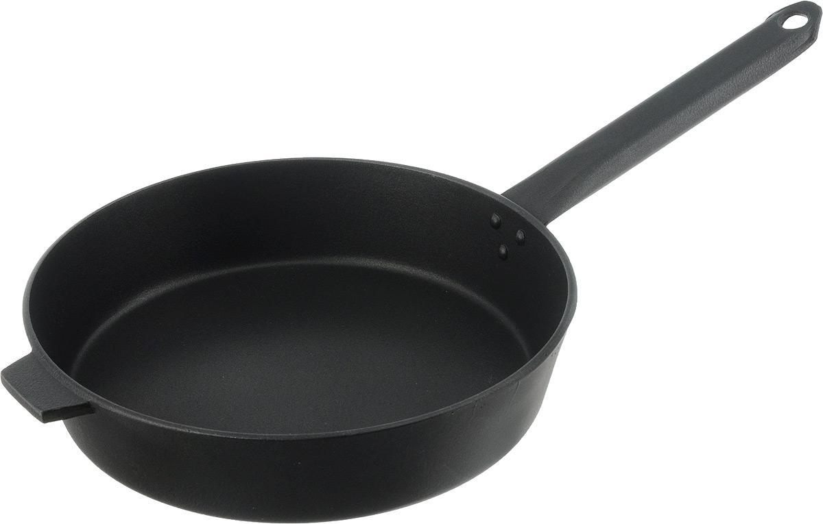 Сковорода Алита Хозяюшка, с антипригарным покрытием. Диаметр 24 см17101Сковорода Алита Хозяюшка изготовлена из литого алюминия с внутренним антипригарным покрытием. Благодаря этому пища не пригорает и не прилипает к стенкам. Готовить можно с минимальным количеством масла и жиров. Гладкая поверхность обеспечивает легкость ухода за посудой.Подходит для использования на всех типах плит, кроме индукционных.Диаметр сковороды (по верхнему краю): 24 см.Высота стенки: 5,5 см.Длина ручки: 19,5 см.