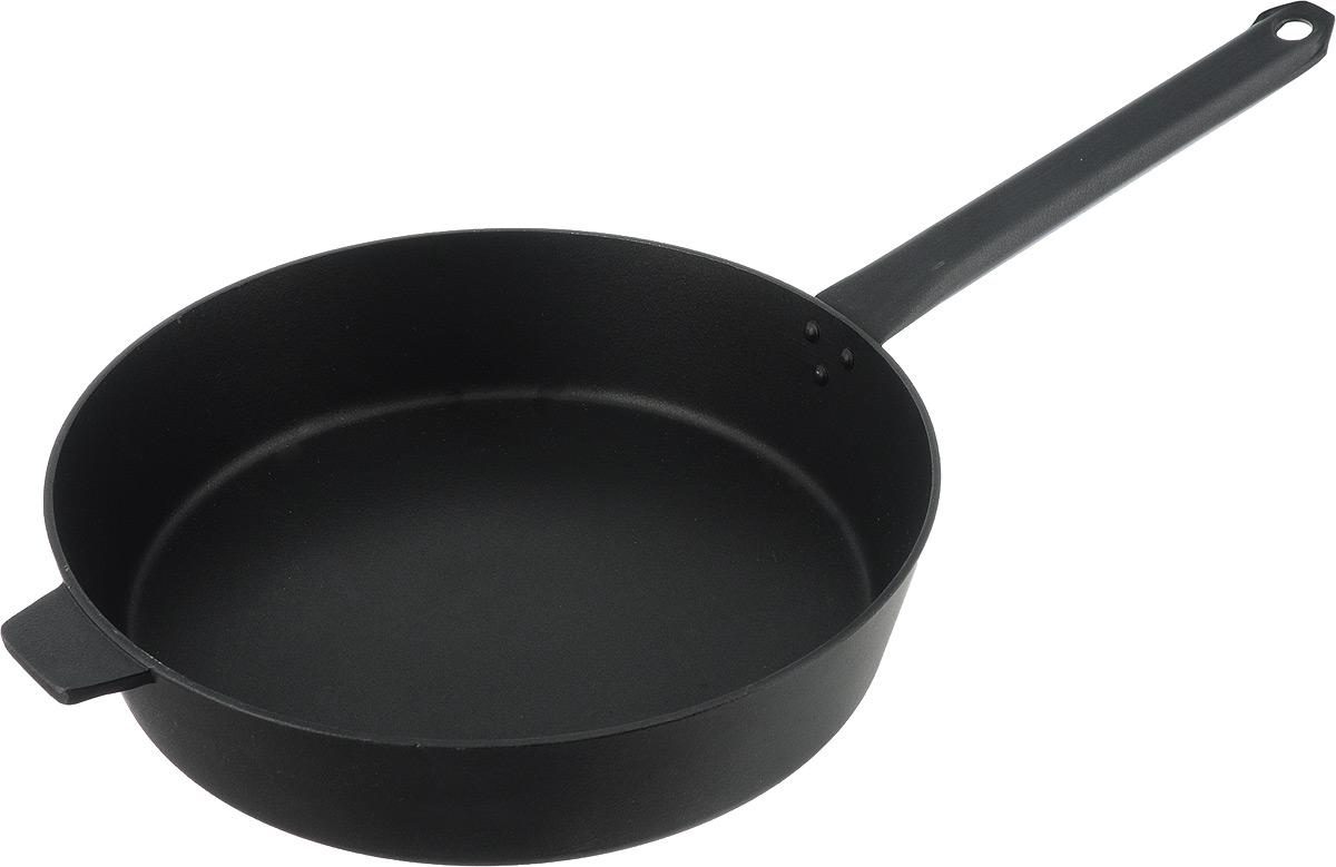 Сковорода Алита Хозяюшка, с антипригарным покрытием. Диаметр 28 см17301Сковорода Алита Хозяюшка изготовлена из литого алюминия с двухсторонним антипригарным покрытием. Благодаря такому покрытию, пища не пригорает и не прилипает к стенкам, готовить можно с минимальным количеством масла и жиров. Сковорода оснащена удобной металлической ручкой. А гладкая поверхность обеспечивает легкость ухода за посудой. Подходит для использования на всех типах плит, кроме индукционных.Диаметр сковороды (по верхнему краю): 24 см.Высота стенки: 7,5 см.Длина ручки: 23 см.
