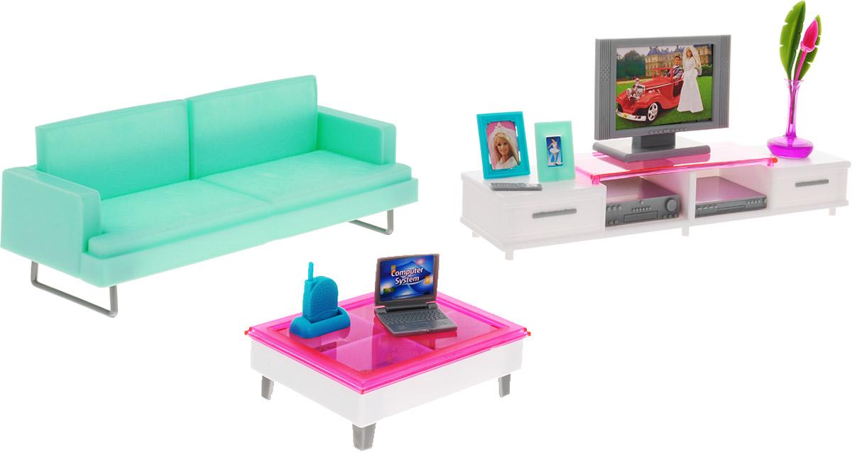 Gloria Мебель для кукол Гостиная купить телевизор онлайн с доставкой