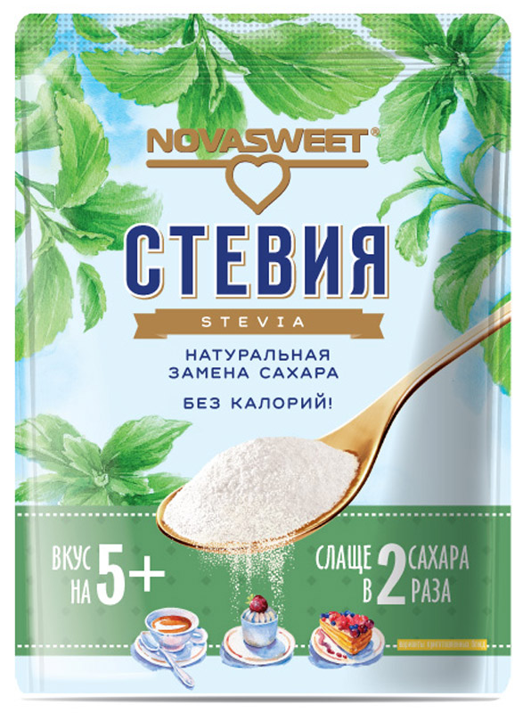Novasweet стевия столовый подсластитель, 200 г фитпарад 10 заменитель сахара на основе эритрита 200 г