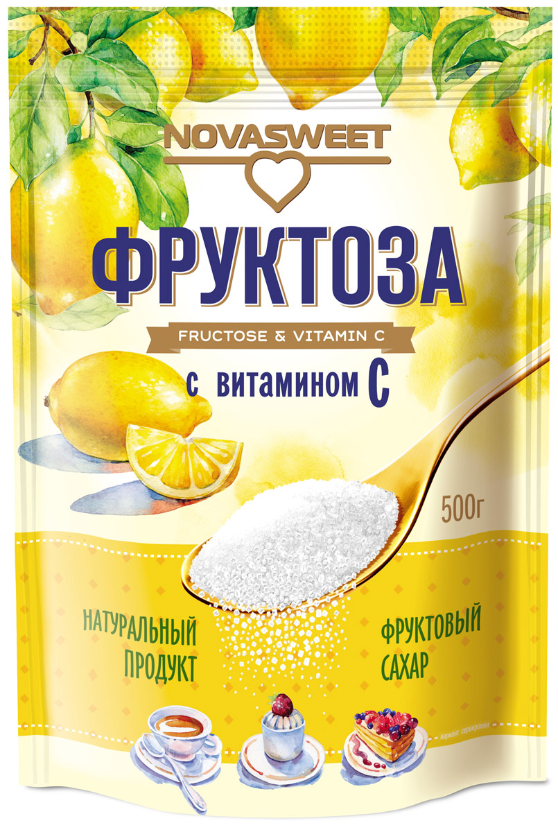 Novasweet фруктоза с витамином С, 500 г цена