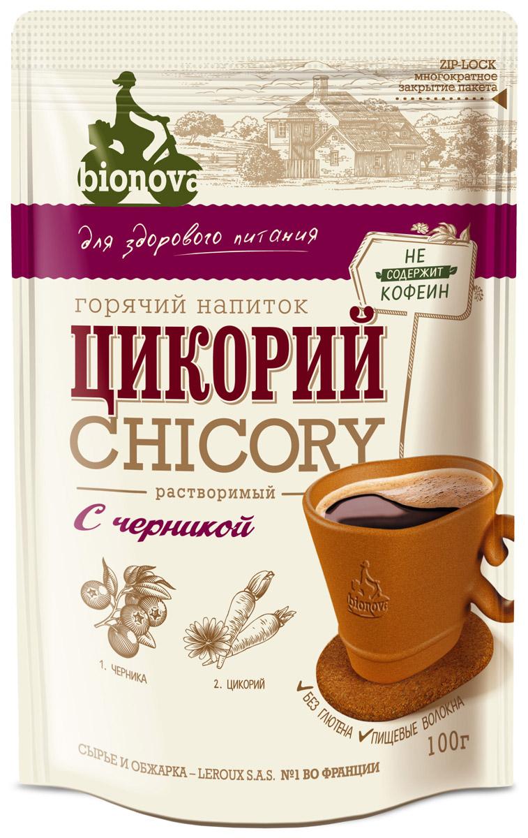 Bionova напиток из цикория с черникой, 100 г