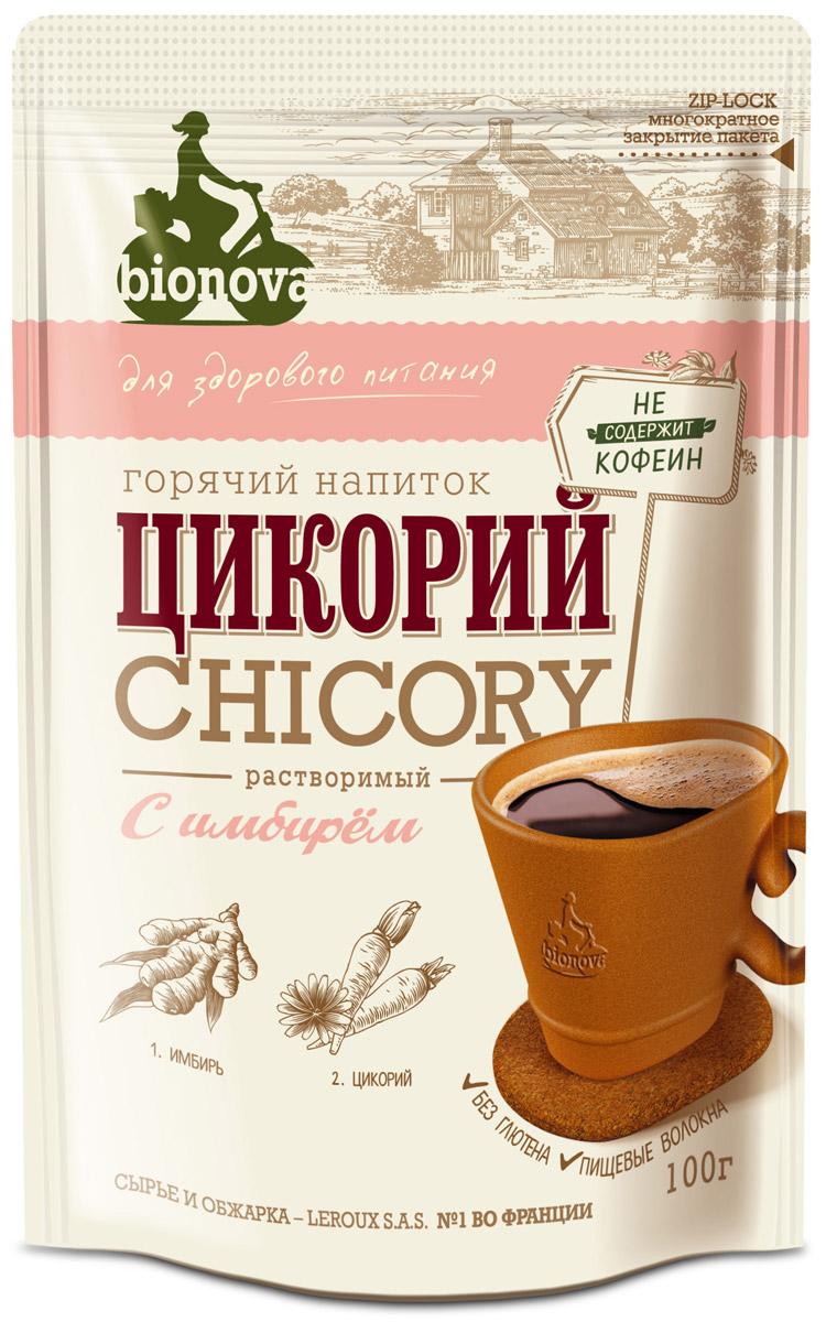 Bionova напиток из цикория с имбирем, 100 г