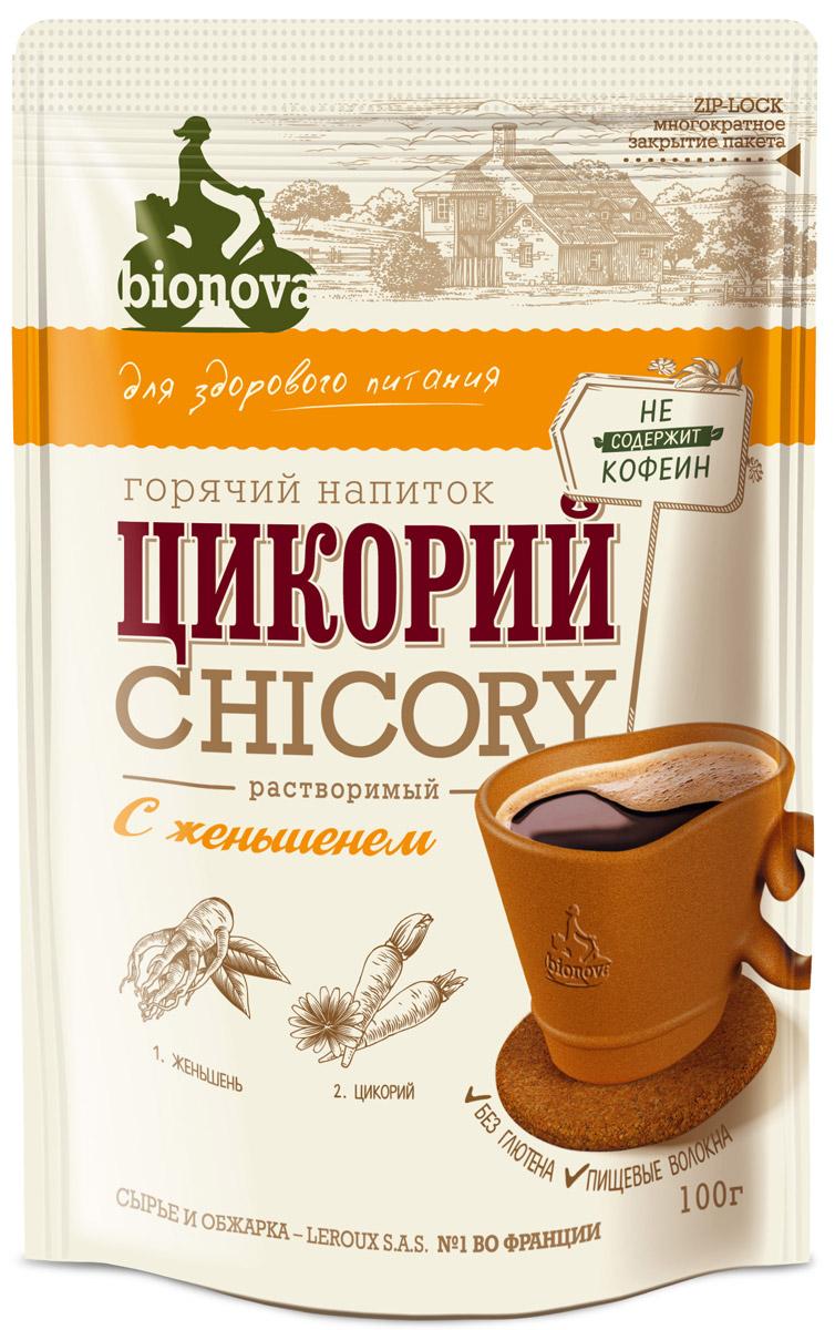 Bionova напиток из цикория с женьшенем, 100 г