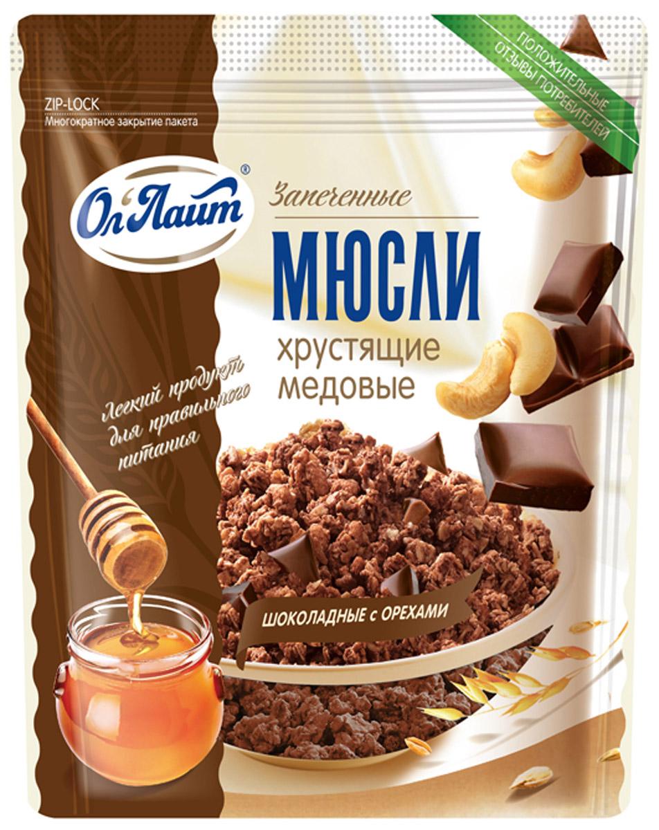 Ол Лайт мюсли хрустящие медовые шоколадные с орехами, 280 г