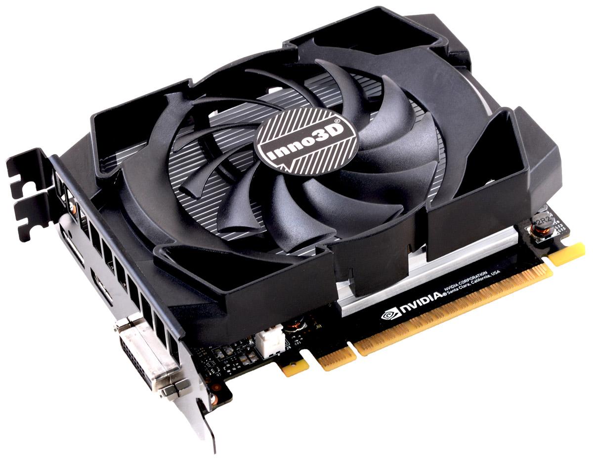 Inno3D GeForce GTX 1050 Ti Compact 4GB видеокарта (N105T-1SDV-M5CM)N105T-1SDV-M5CMВидеокарта Inno3D GeForce GTX 1050 Ti Compact оснащена инновационными игровыми технологиями, что делает ее идеальном выбором для самых современных игр в высоком разрешении. Создана на основе архитектуры NVIDIA Pascal, самой технически продвинутой архитектуры GPU из когда-либо созданных. Она обеспечивает высочайшую производительность, которая открывает дорогу к VR-играм и другим возможностям.Видеокарта GTX 1050 Ti на основе графического ядра Pascal демонстрирует высочайшую производительность и энергоэффективность, а такие особенности как, ультра-быстрые транзисторы FinFET и поддержка DirectX 12, способствуют плавному геймплею и высокой скорости в играх.Откройте для себя новое поколение виртуальной реальности, минимальные задержки и plug-and-play совместимость с самыми популярными гарнитурами. Все это становится возможным благодаря технологиям NVIDIA VRWorks. Виртуальный звук, физика и ощущения позволят вам слышать и чувствовать каждый момент.Видеокарта Inno3D GeForce GTX 1050 Ti Compact оснащена отличной системой охлаждения, которая не позволяет GPU перегреваться даже в самых напряженных игровых условиях.Как собрать игровой компьютер. Статья OZON Гид