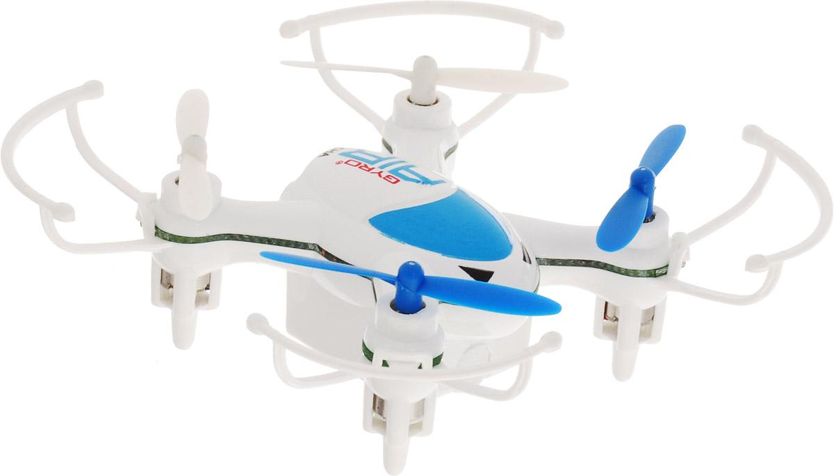1TOY Квадрокоптер на радиоуправлении Gyro-Air цвет белый голубой 1toy 1toy gyro viper квадрокоптер т58982
