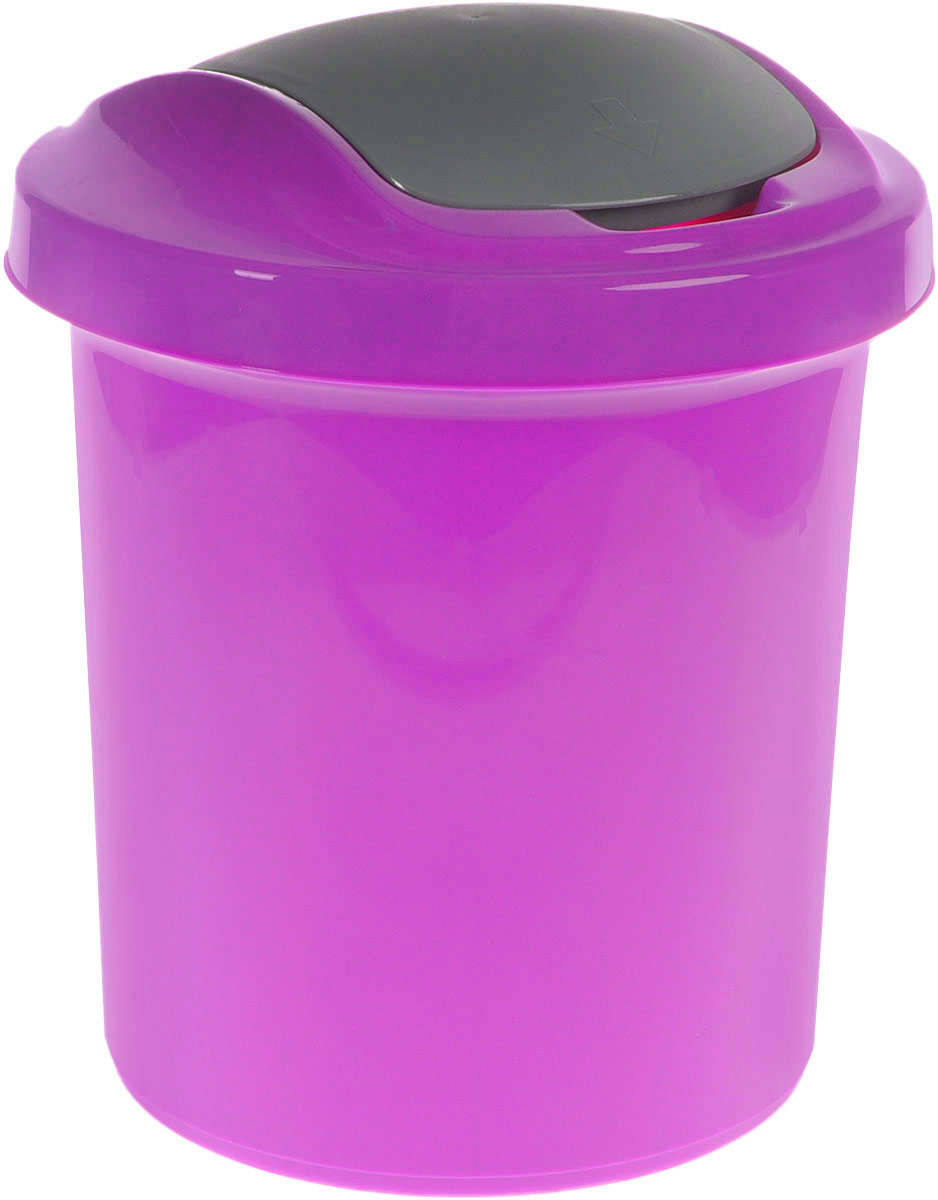 Контейнер для мусора Svip Ориджинал, цвет: фиолетовый, серый, 12 лSV4044АММусорный контейнер Svip Ориджинал поможет поддержать порядок и чистоту на кухне, в туалетной комнате или в офисе. Контейнер выполнен из полипропилена. Изделие оснащено крышкой с двойным механизмом открывания, что обеспечивает максимально удобное использование: откидной крышкой можно воспользоваться при выбрасывании большого мусора, крышкой-маятником - для мусора меньшего объема. Скрытые борта в корпусе изделия для аккуратного использования одноразовых пакетов и сохранения эстетики изделия. Съемная верхняя часть контейнера обеспечивает удобство извлечения накопившегося мусора. Эстетика изделия превращает необходимый предмет кухни или туалетной комнаты в стильное дополнение к интерьеру. Его легкость и прочность оптимально решают проблему сбора мусора.