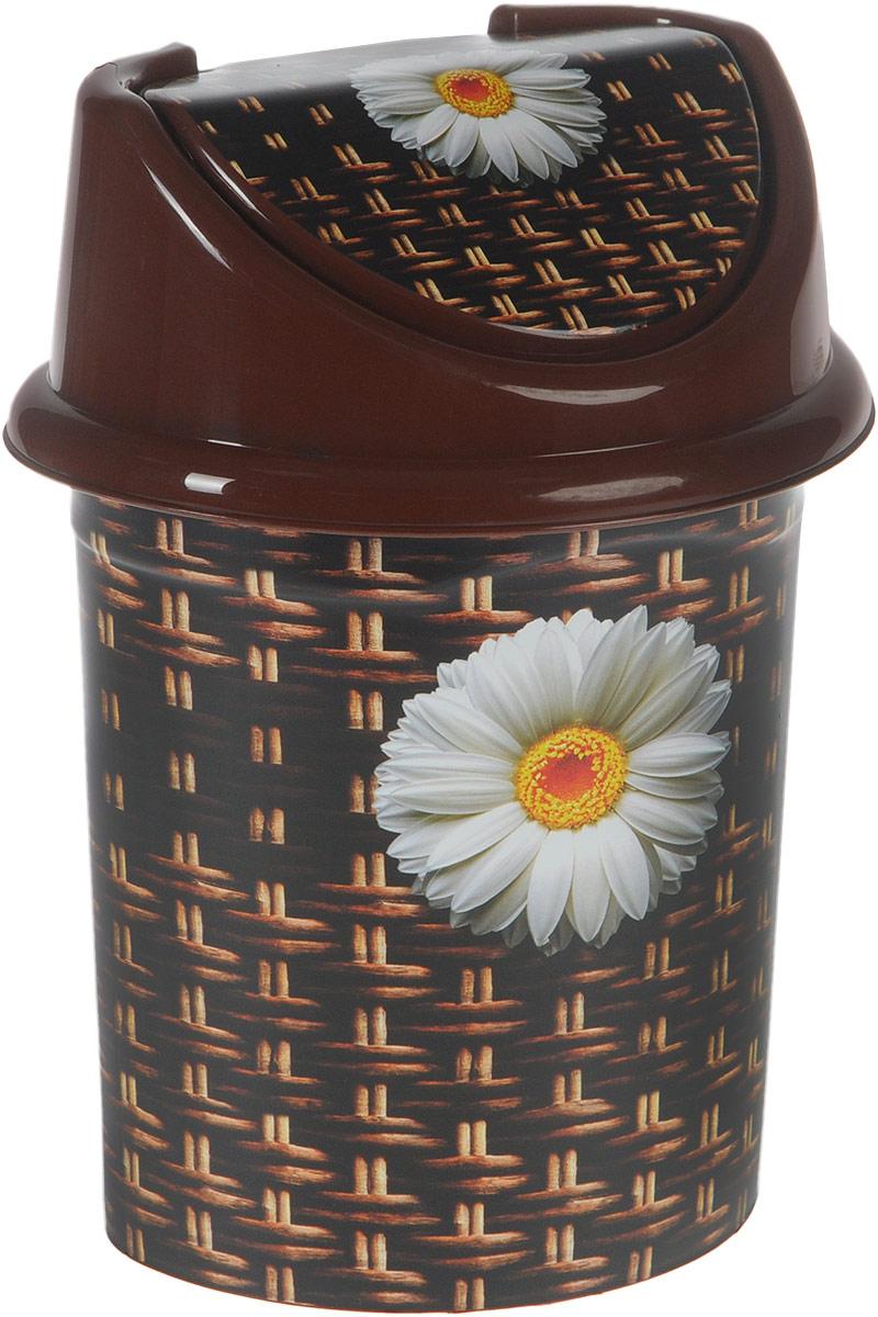 Контейнер для мусора Violet Плетенка, цвет: коричневый, белый, 4 л810366Контейнер для мусора Violet Плетенка изготовлен из прочного полипропилена (пластика). Такой аксессуар очень удобен в использовании как дома, так и в офисе.Контейнер снабжен удобной съемной крышкой с подвижной перегородкой. Стильный дизайн сделает его прекрасным украшением интерьера.Размер контейнера (с учетом крышки): 20 х 15,5 х 26,5 см.