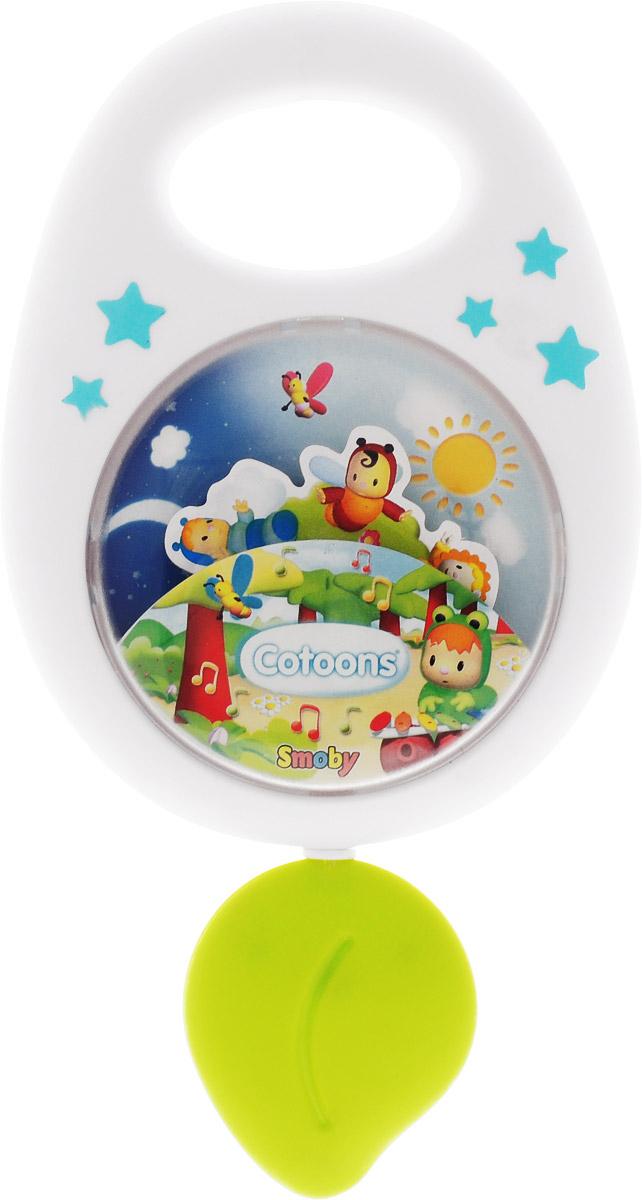 Smoby Музыкальная игрушка-подвеска Cotoons цвет белый голубой smoby стульчик сидение для ванной cotoons цвет розовый