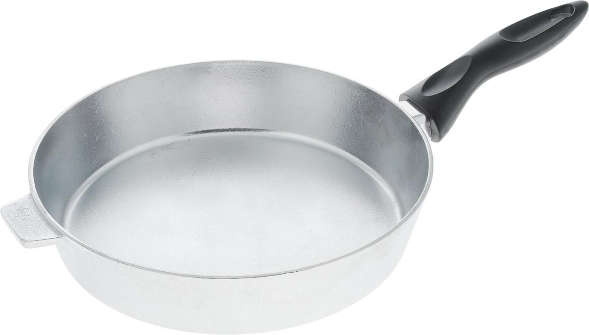 Сковорода Алита Хозяюшка. Диаметр 24 см. 1230012300Сковорода Алита Хозяюшка, изготовленная из литого алюминиевого сплава AK5M2П, прекрасно подходит для приготовления повседневных блюд. Гладкая поверхность обеспечивает легкость ухода за посудой. Изделие оснащено удобной пластиковой ручкой, которая не нагревается в процессе готовки.Подходит для использования на всех типах плит, кроме индукционных.Диаметр сковороды (по верхнему краю): 24 см.Высота стенки: 5,5 см.Длина ручки: 15,5 см.