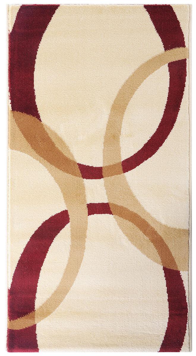 Ковер Kamalak Tekstil, прямоугольный, цвет: бордовый, кремовый, 60 х 110 см. УК-0566УКД-2044Ковер Kamalak Tekstil изготовлен из прочного синтетического материала heat-set, улучшенного варианта полипропилена (эта нить получается в результате его дополнительной обработки). Полипропилен износостоек, нетоксичен, не впитывает влагу, не провоцирует аллергию. Структура волокна в полипропиленовыхковрах гладкая, поэтому грязь не будет въедаться и скапливаться на ворсе. Практичный и износоустойчивый ворс не истирается и не накапливает статическое электричество. Ковер обладает хорошими показателями теплостойкости и шумоизоляции. Оригинальный рисунок позволит гармонично оформить интерьеркомнаты, гостиной или прихожей. За счет невысокого ворса ковер легко чистить. При надлежащем уходе синтетический ковер прослужит долго, не утратив ни яркости узора, ни блеска ворса, ни упругости. Самый простой способ избавить изделие от грязи - пропылесосить его с обеих сторон (лицевой и изнаночной). Влажная уборка с применением шампуней и моющих средств не противопоказана. Хранить рекомендуется в свернутом рулоном виде.