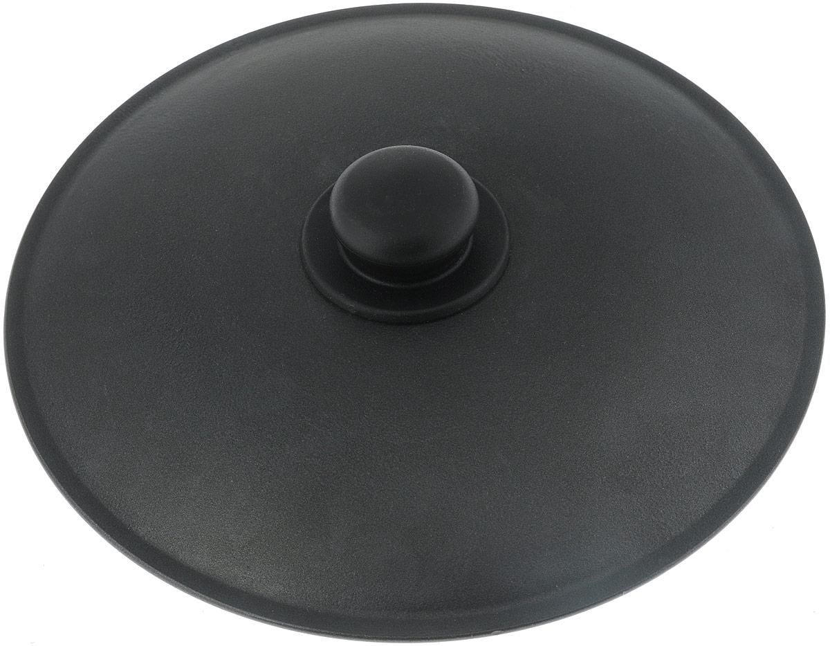 Крышка Алита, с антипригарным покрытием. Диаметр 28 см16601Крышка Алита изготовлена из литого алюминия. Внутри и снаружи изделие имеет антипригарное покрытие Ладофлон. Крышка оснащена круглой пластиковой ручкой.